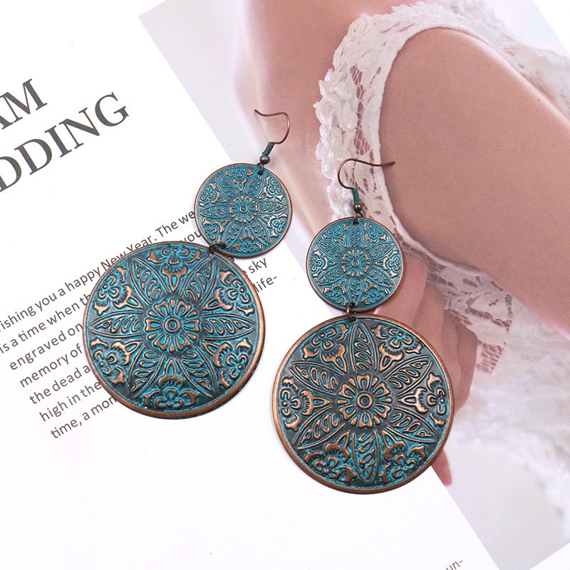 Double Round Drop Earring