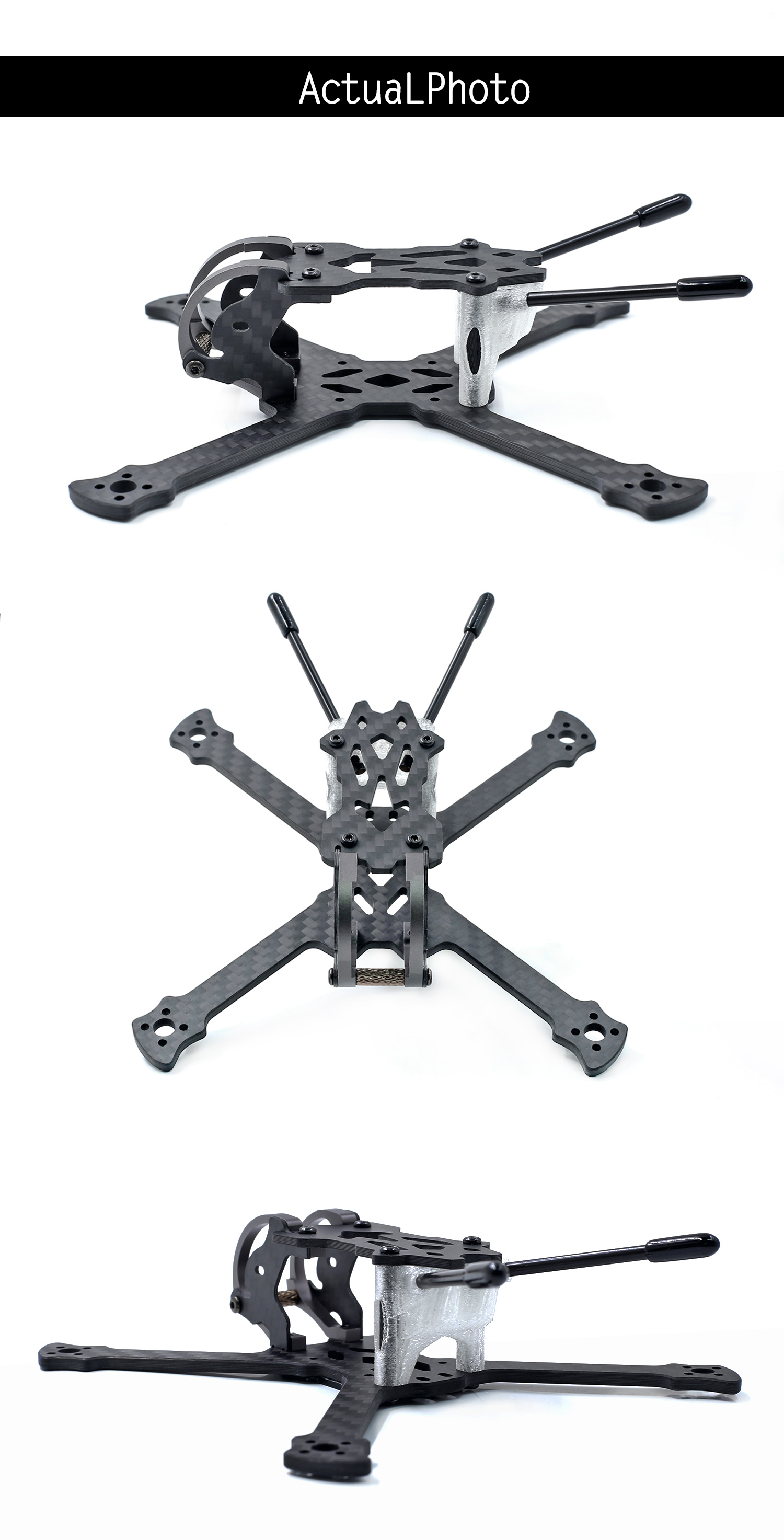 GEPRC GEP-PX3 3 Inch 140mm Wheelbase 3mm Arm 3K Carbon Fiber Frame Kit for RC Drone FPV Racing