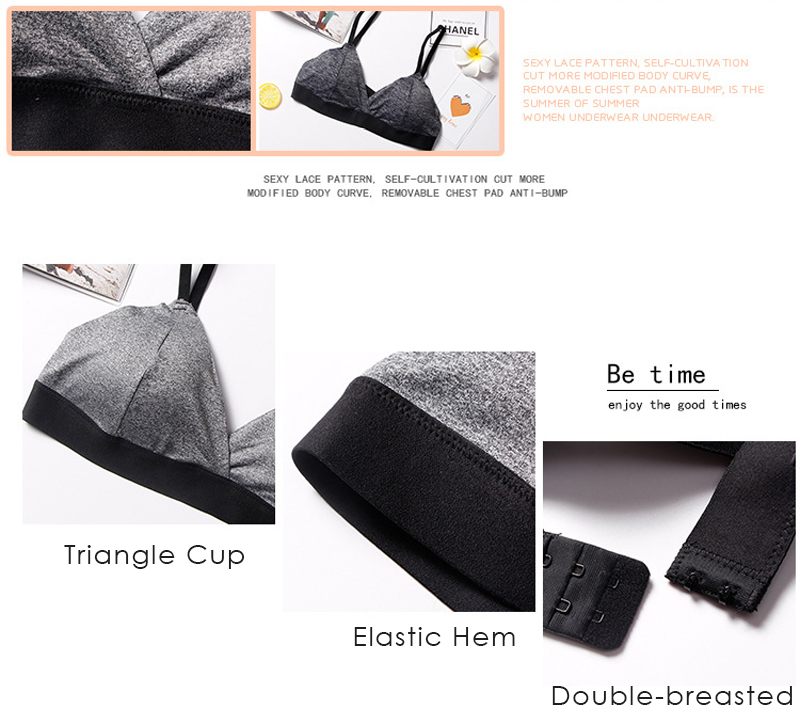 Wire Free Triangle Cup Padded Adjusted Bra