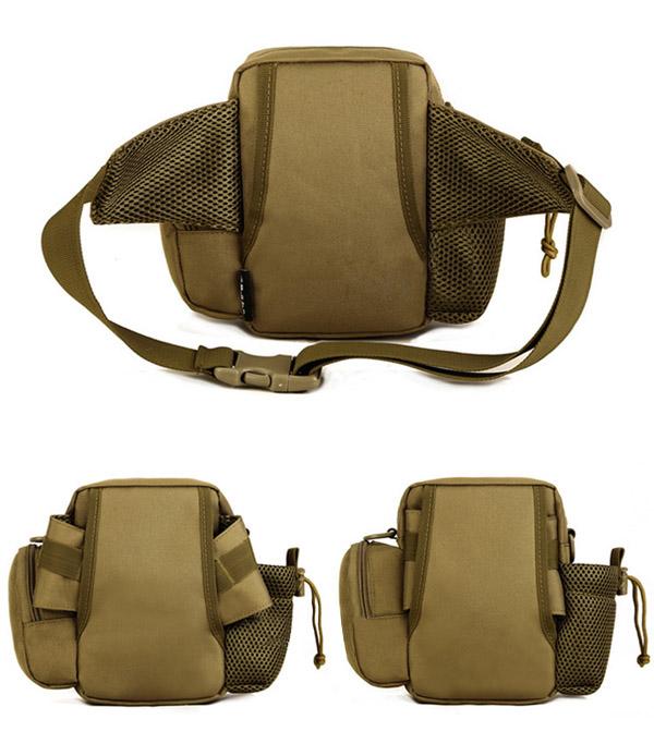 Tactical Multifunction Sports Riding Waist Bag Capacity Shoulder Kettle Bag