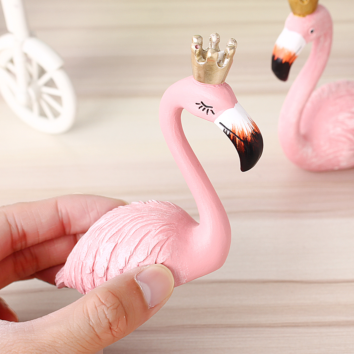 Resin Flamingo Ornament Garland Decorations Home Decor Wedding Gift