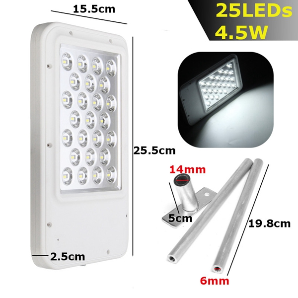 Ultrathin Solar Power 25 LED Light-controlled Wall Street Light Waterproof Outdoor Garden Lamp