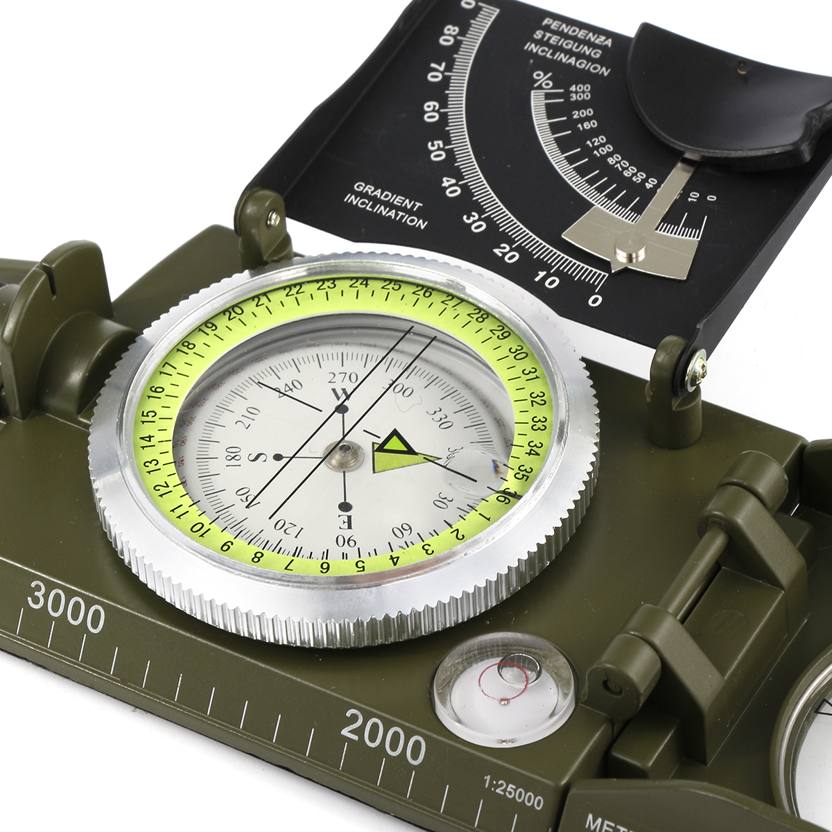 Professional Compass Metal Waterproof 50mm Dial Compass Multifunction Military Army Sighting Compass