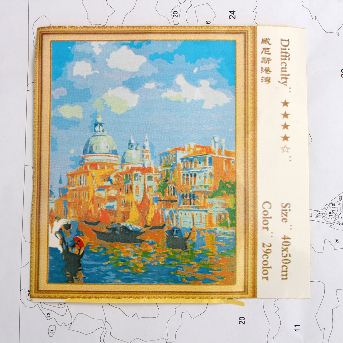 Numbers Kit DIY Painting Oil Painting Frameless Picture Digital Water Castle Drawing Wall Decor Gift 40x50cm