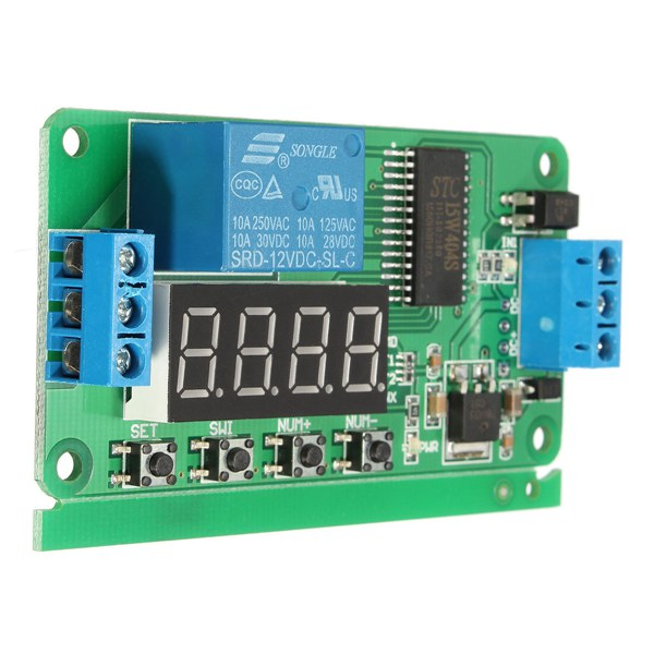 DC 12V PLC Self Lock Delay Relay Multifunction Cycle Timer Module Switch Control