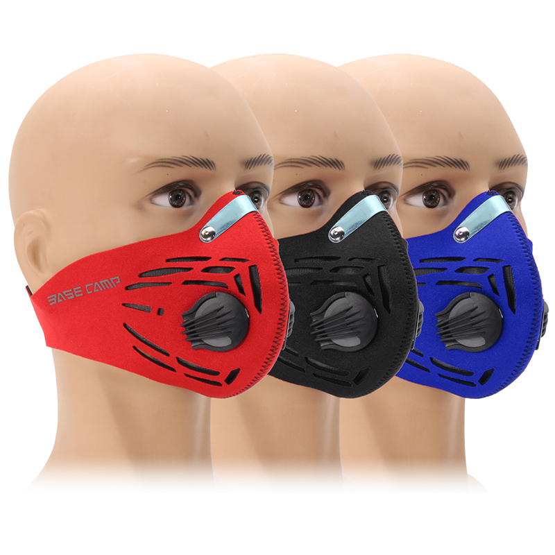 Activated Carbon Air Filter Dustproof Mask Half Face Cycling Sport Training Mask Outdoor Mask
