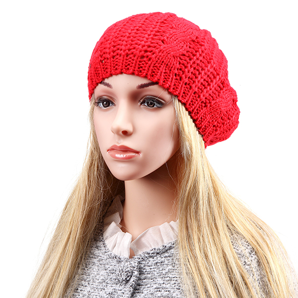 Women Ladies Knitted Crochet Beanie Hat Winter Warm Slouch Baggy Beret Cap