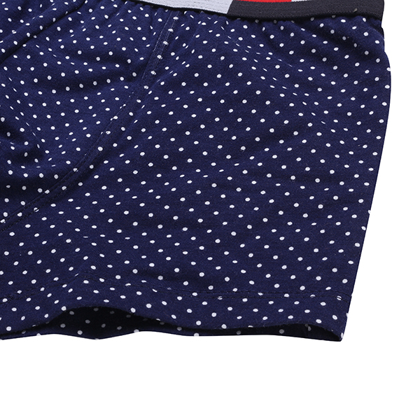 Mens Dot Printing Breathable Comfortable Cotton U Conves Boxer Underwear