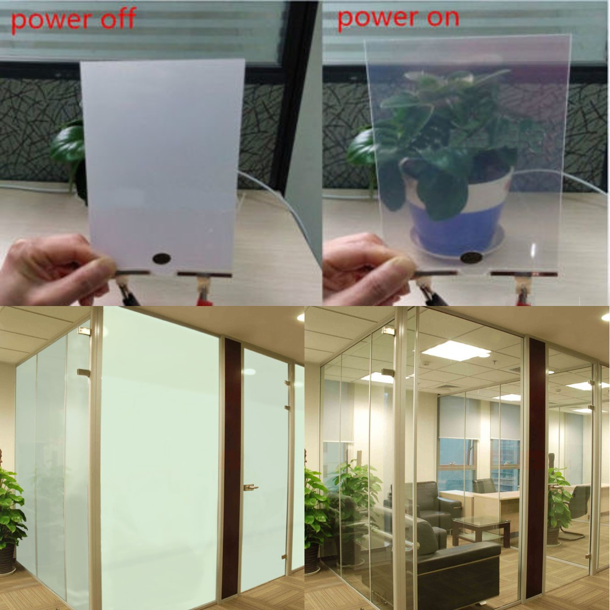 20x30cm Electronic PDLC Smart Glass EGlass Switchable Emagic Electroch Film
