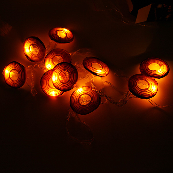 4M 10 LED Paper Pumpkin Lantern String Light for Halloween Decoration 110V