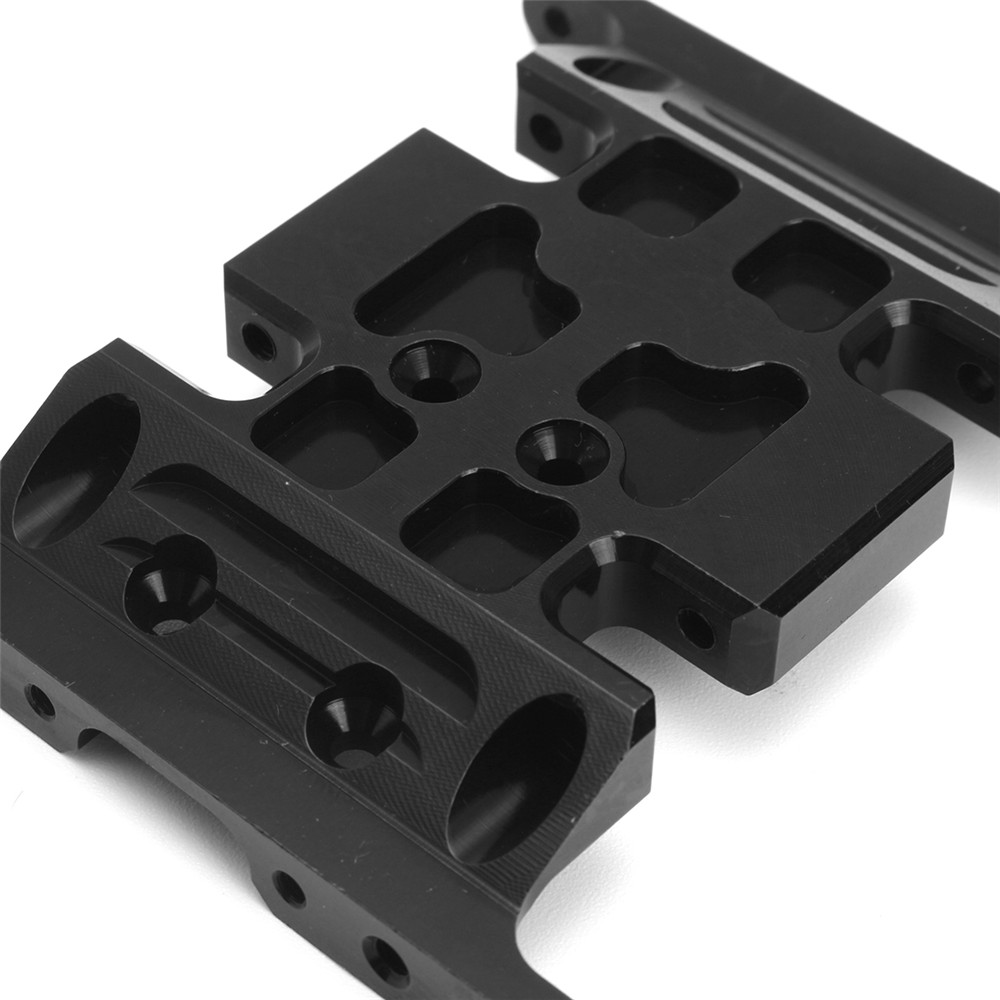 Black Aluminum Center Skid Plate Fit for 1/10 Crawler Axial SCX10 RC Car Parts