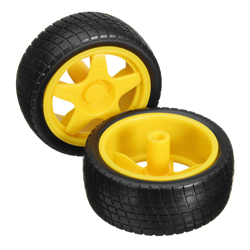 8 Pcs Smart Robot Car Tyres Wheels For Arduino TT Gear Motor Chassis