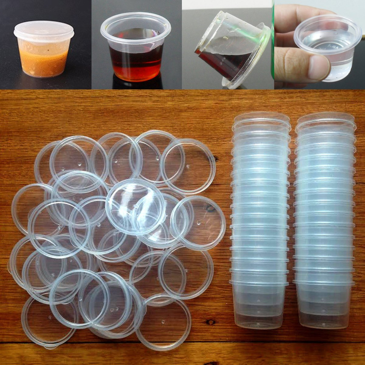 30pcs 35ml Clear Storage Boxes Containers with Lids Reusable for Liquid Accessories Lab