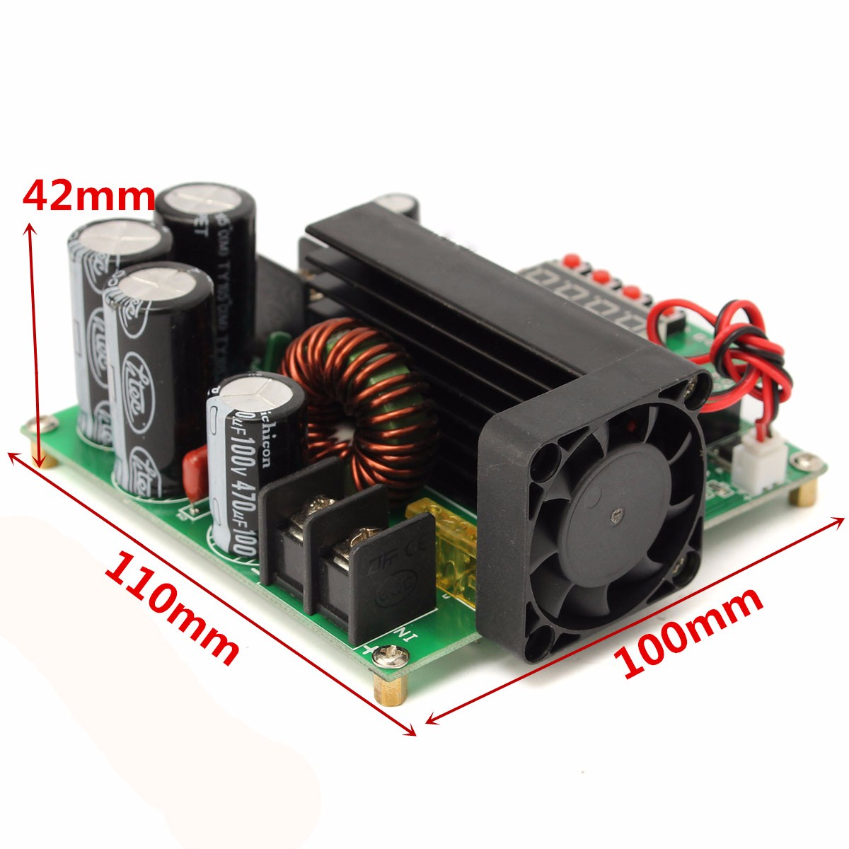 B900W NC DC Constant Current Power Supply Voltage Adjustable Boost Module Ammeter 120V 15A
