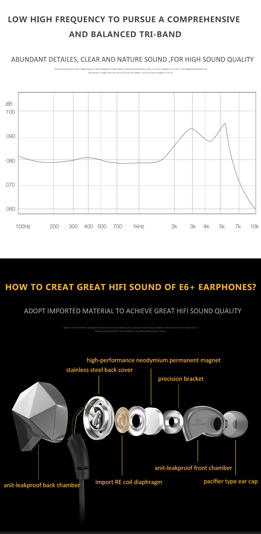 Sound Intone E6 Plus In-ear Noise Cancelling Earphone Headset with Microphone Volume Control