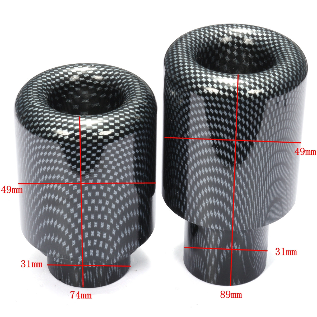 Carbon Frame Slider Crash Protector For Honda CBR600RR 2007-2008