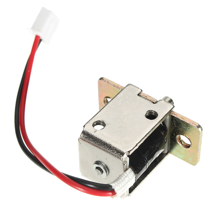12V DC 0.5A Mini Electric Bolt Lock Push Pull Cylindrical Cabinet Lock 5mm Stroke