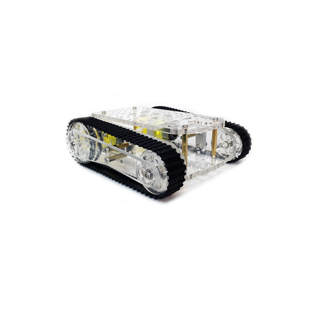 DIY Acrylic RC Robot Chassis Tank Car With Crawler Kit for Arduino