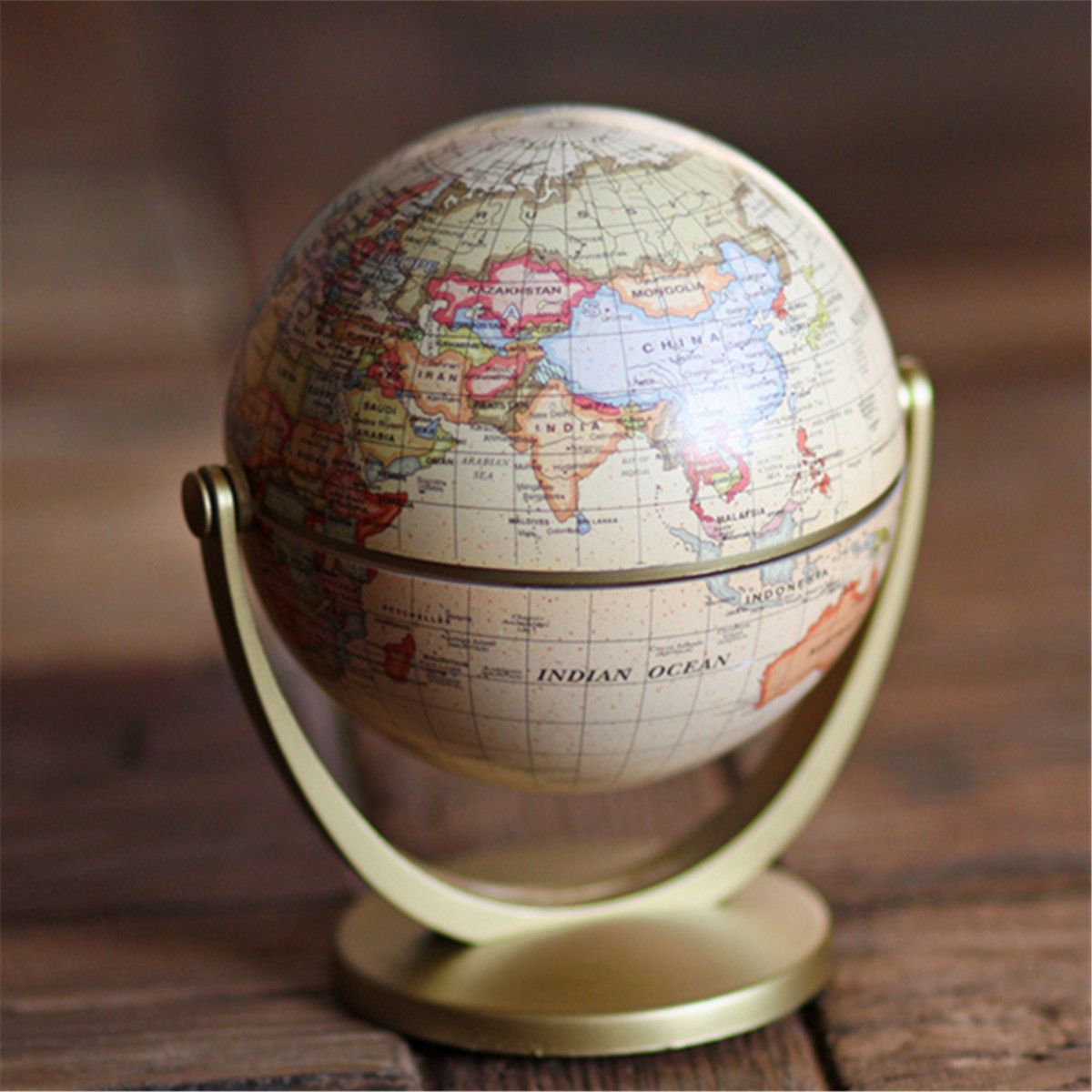 World Globe Earth Ocean Map With Rotating Stand Geography Science Educational Equipment