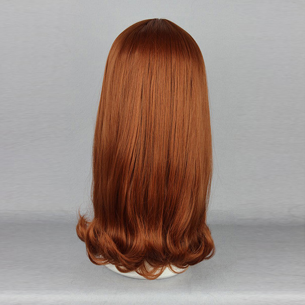Side Bang Straight Heat-Friendly Synthetic Hair Wig Cosplay Costume Natural Elegant