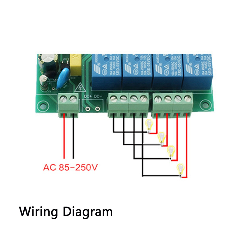 Remarkable Ac 220V 10A Control Smart Switch Point Remote Relay 4 Channel Wifi Module With Shell And 433M Remote Controller Wiring Cloud Hisonuggs Outletorg