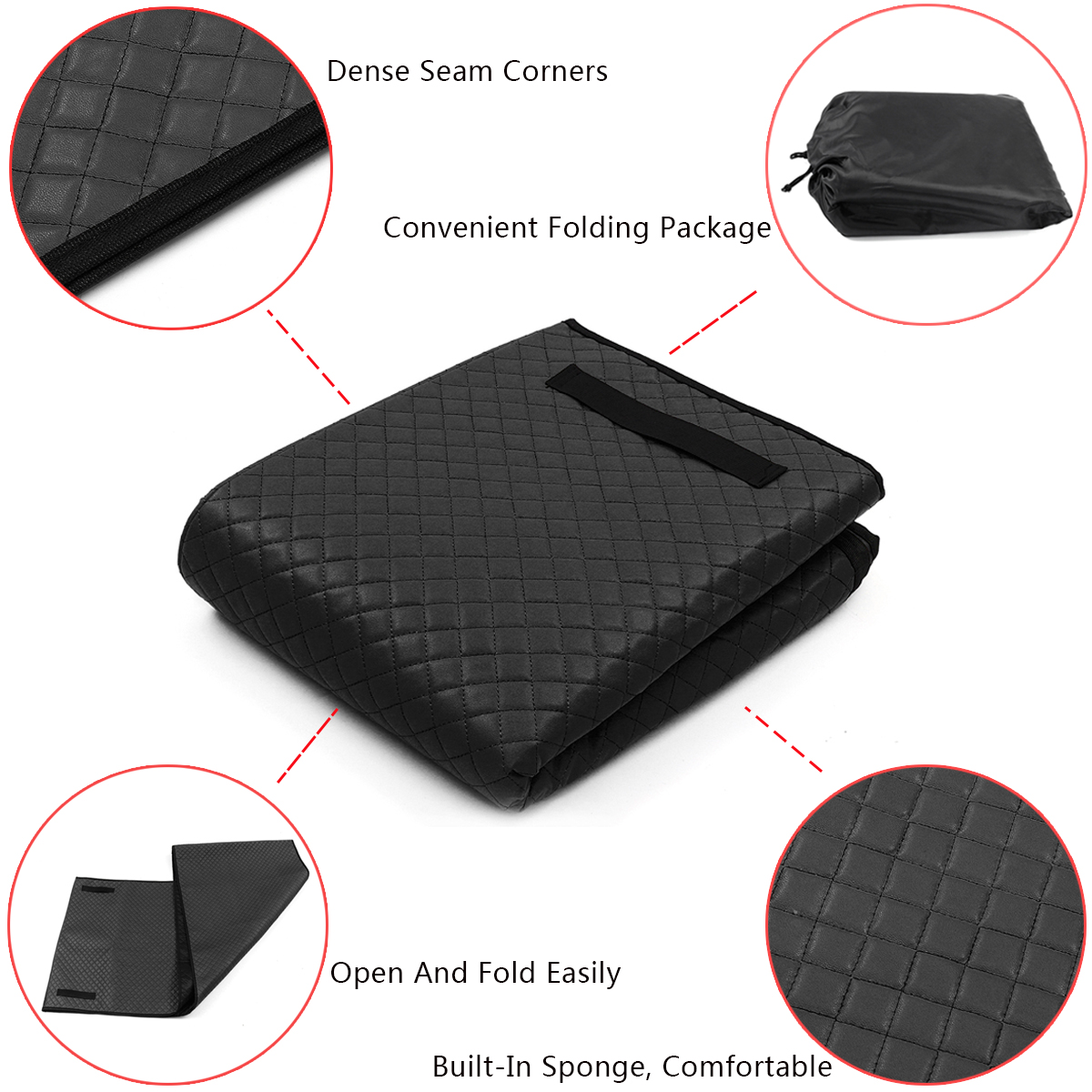 Automotive Creeper Pad Plaid Mechanic Rolling Cushion Working Floor Mat On The Ground for Car Repair