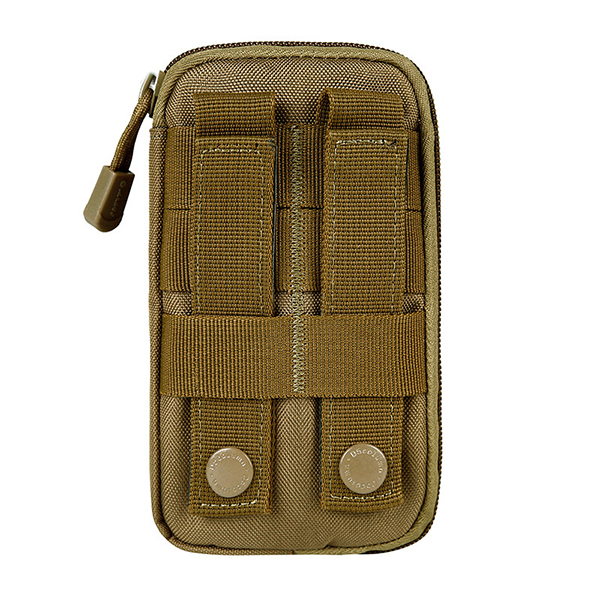 Men Nylon Tactical Arm Bag MOLLE EDC Pouch Mobile Phone Purse Belt Waist Bag