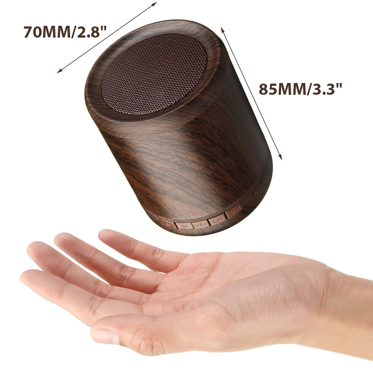 Mini Portable Wireless Bluetooth Speaker Wooden 3D Stereo TF Card Hands Free Aux-in Subwoofer 41
