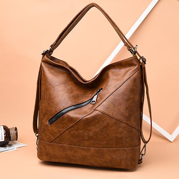 Women Leather Handbag Vintage Multi-function Backpack