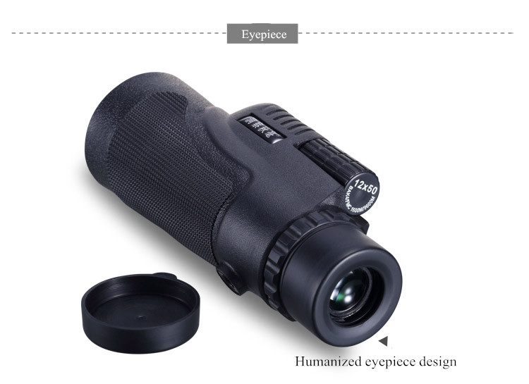 Universal 12x50 hiking concert camera lens telescope monocular with