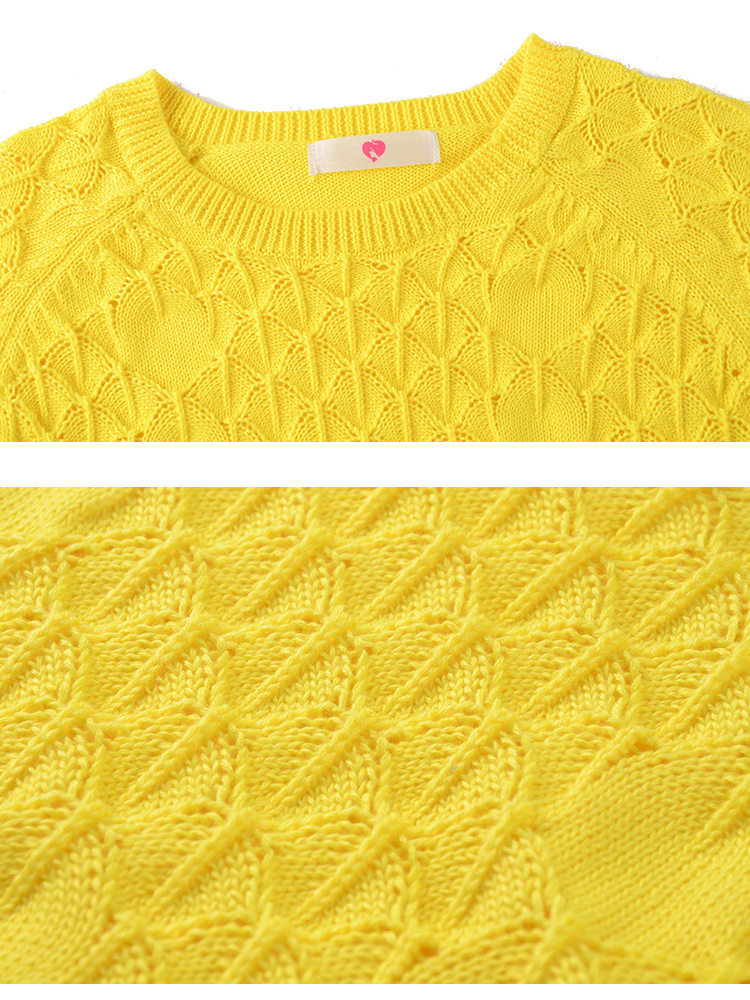 Casual Women Long Sleeve Checker Splicing Pullover Sweaters