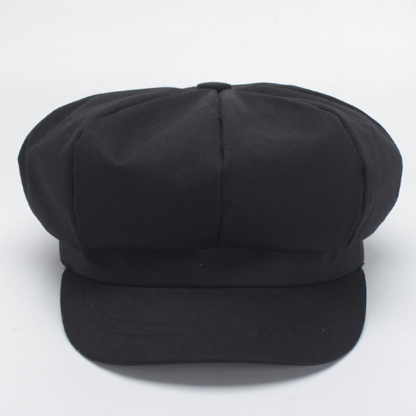 Cotton Leisure Octagon Newsboy Berets Caps
