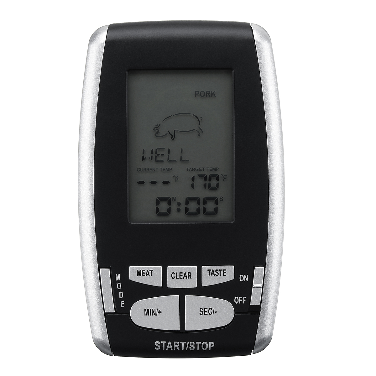 Wireless Remote Digital Thermometer For BBQ Grill Meat Kitchen Oven Food Cooking