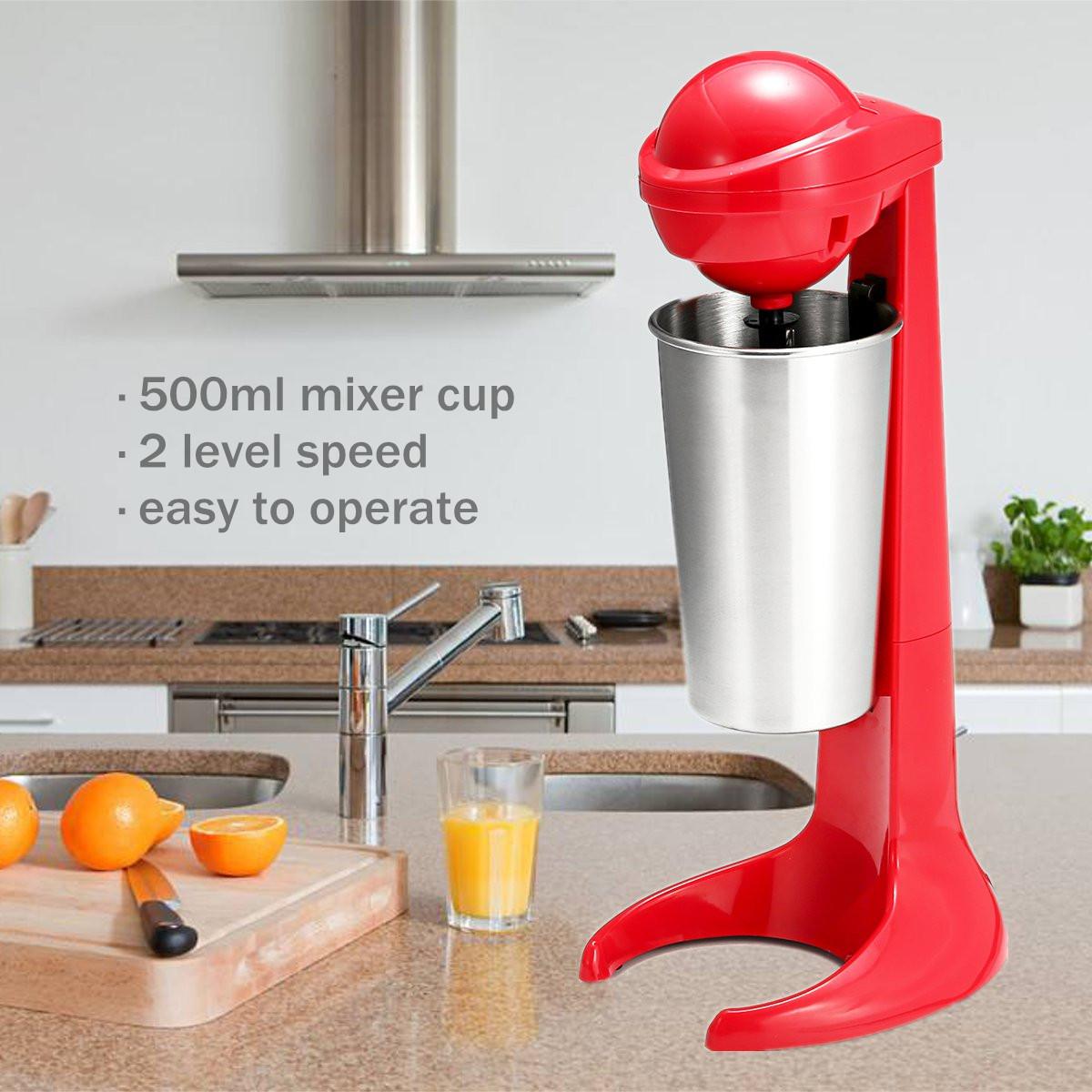 Commercial Foamer Mixer Milkshake Maker Machine Thickshake Frother Stainless Steel Milk Shake