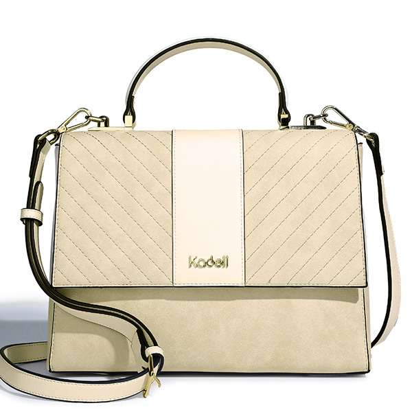 Kadell Scrub Leather Twill Design Clamshell Lady Messenger B