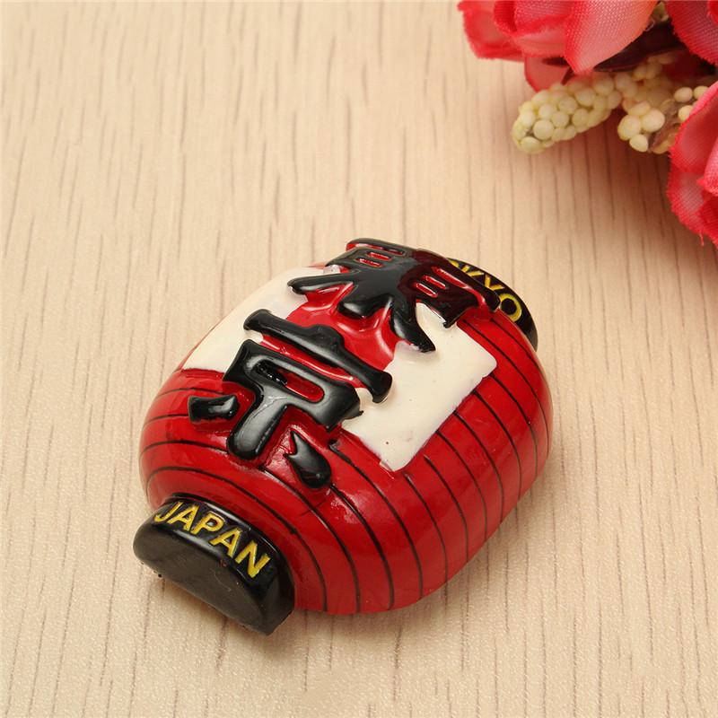 Japan's Lantern 3D Resin Decorative Fridge Magnetic City Tourist Travel Souvenir Toys