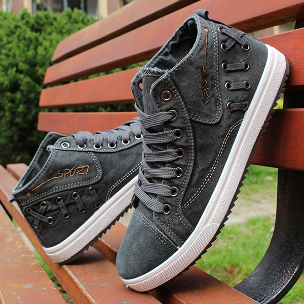 New Men Sneakers Canvas Casual Breathable Outdoor Fashion Soft Comfortable Flat Shoes
