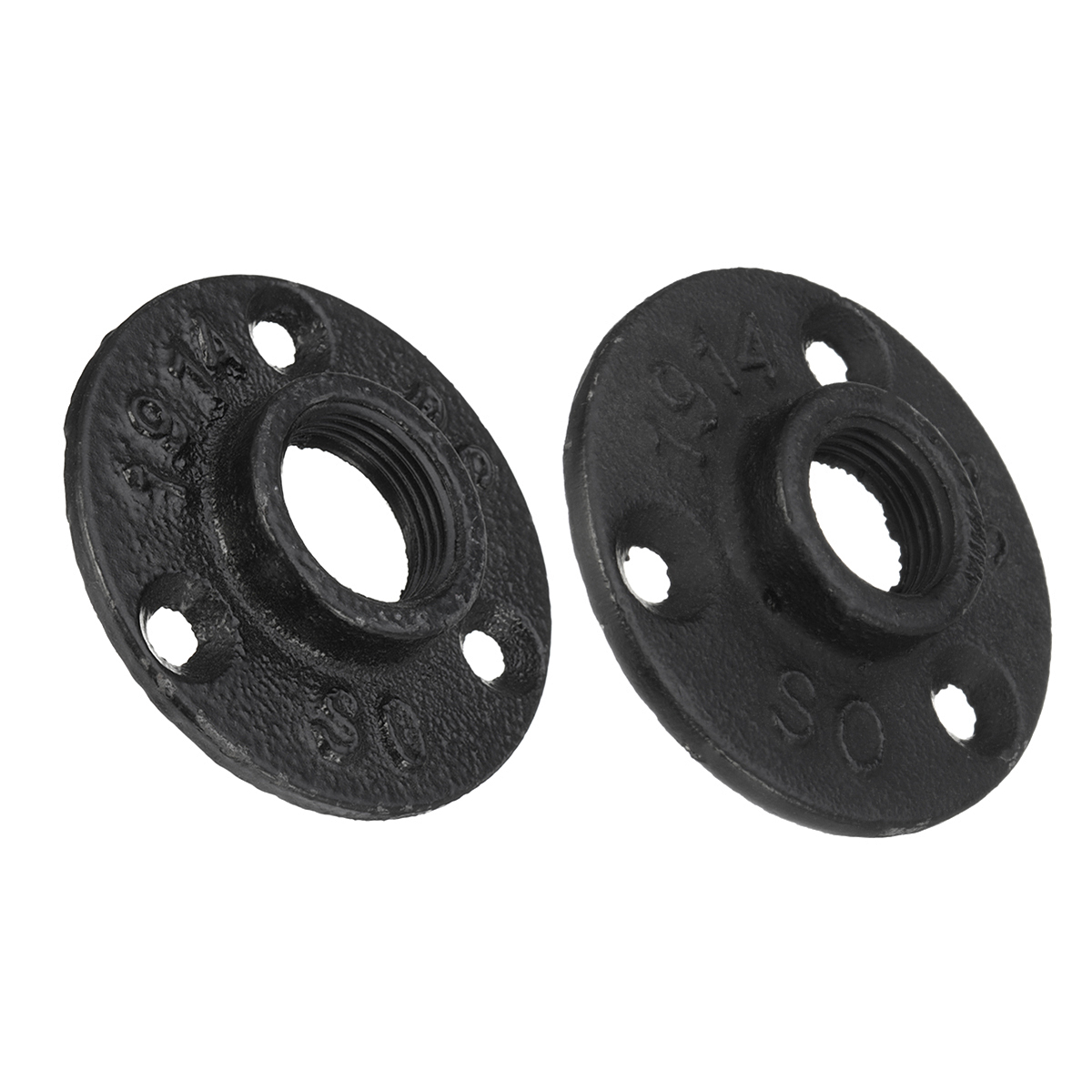 1/2 3/4 Inch Decorative Flange Malleable Iron Floor Wall Flange Pipes Plate Fittings