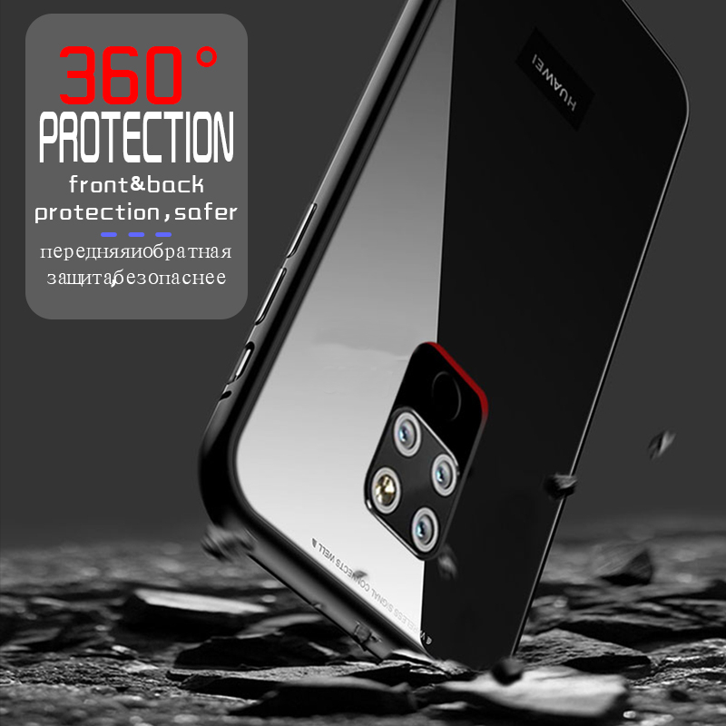 b559dccb32 For just US$12.99 , buy Bakeey 360° Magnetic Adsorption Flip Metal Tempered  Glass Protective Case for Huawei Mate 20 from the China wholesale webshop.