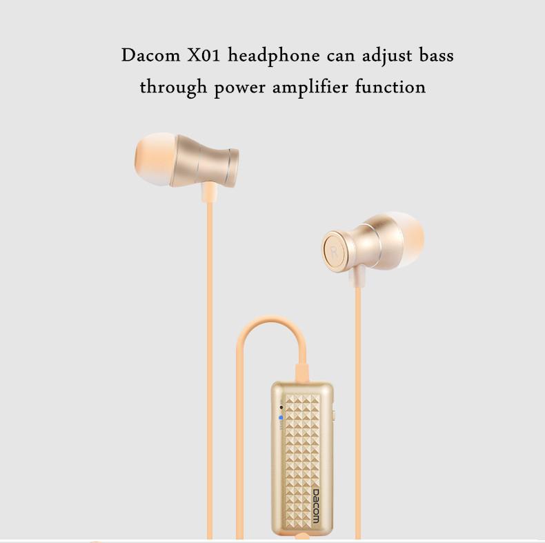 Dacom X01 Power Amplifier Heavy Bass Magnetic Buckle Wired Control In-ear Headphone Earphone