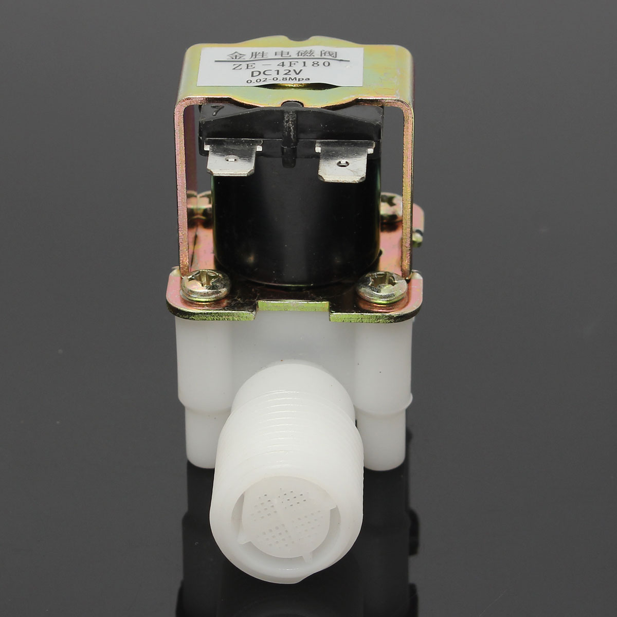 0-0.01MPa 12V Electric Solenoid Valve Magnetic DC Normal Closed Water Air Inlet Flow Switch 1/2