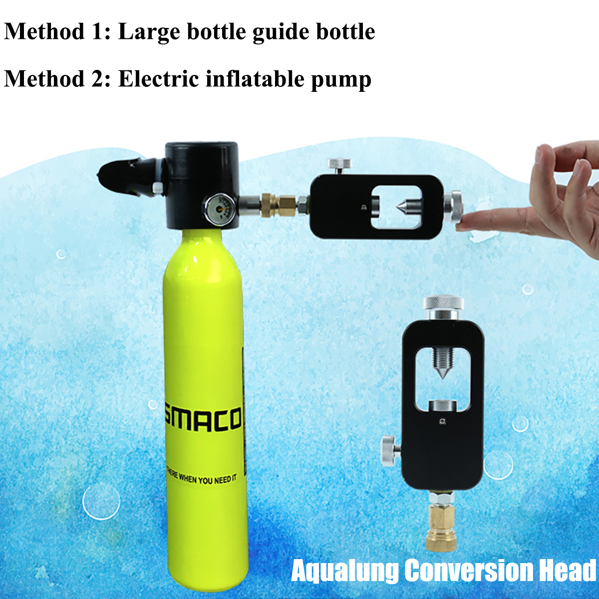 Outdoor Mini Air Tank Oxygen Cylinder Bottle Scuba Diving Set Equipment Total Freedom Breath Underwater For 5-10 Minutes