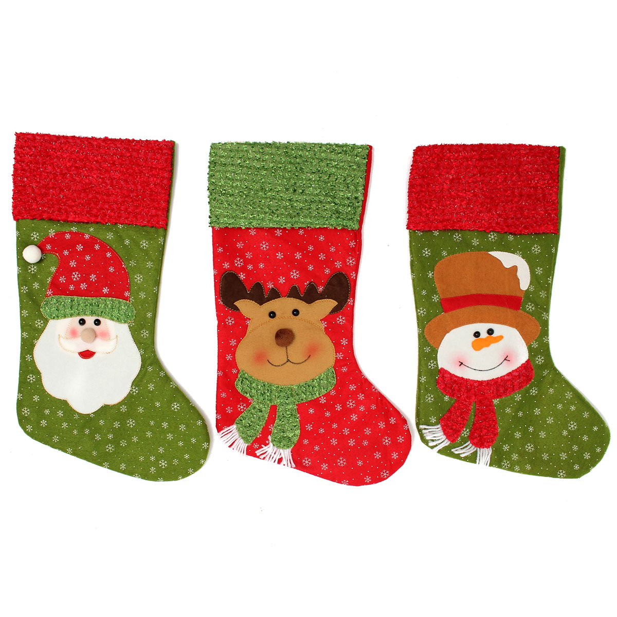 Christmas Santa Clau Snowman Elk Stockings Hanging Gift Bag Christmas Party Deocration