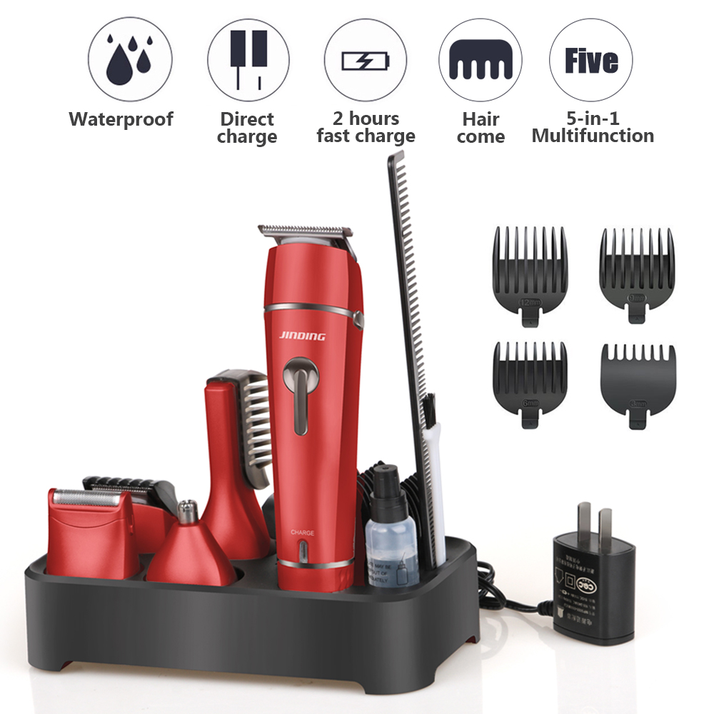 110-240V 5-in-1 USB Waterproof Electric Shaver Hair Clipper