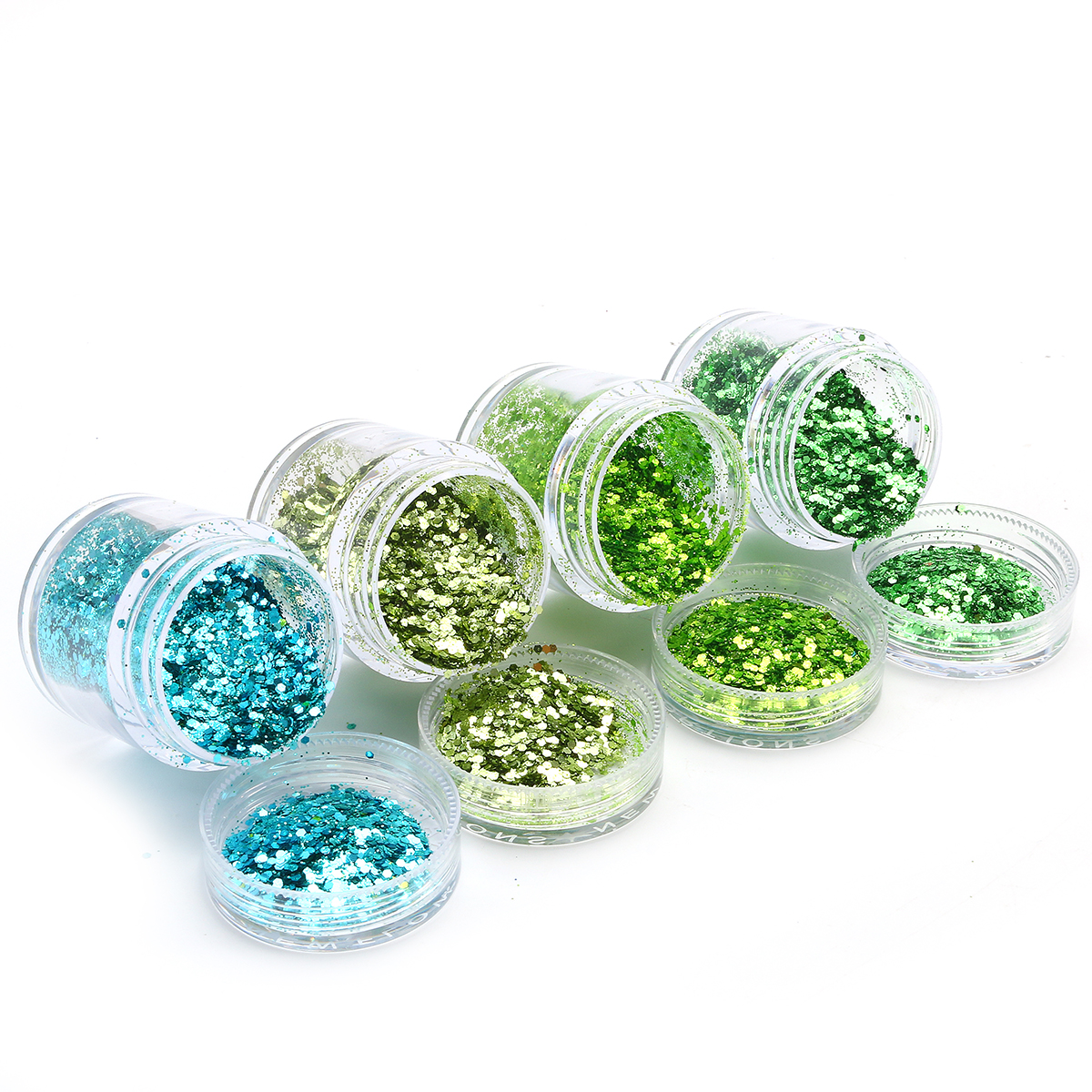4 Box Nail Glitter Powder Tips 3D Colorful Sequins Makeup Manicure Decoration For Hollowen Party