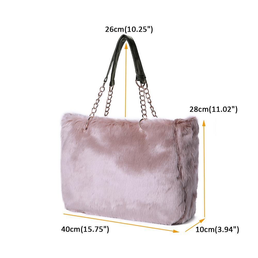 Women Fashion Leisure Brief Plush Tote Bag