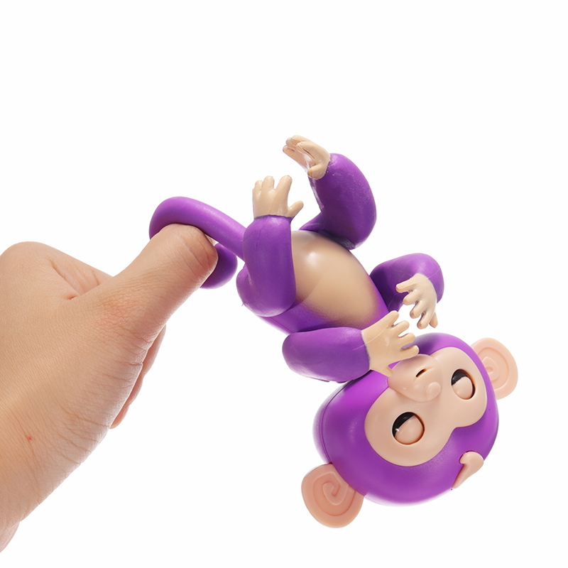 2PCS Finger Baby Interactive Pet Monkey Smart Colorful Induction Novelties Toys For Kids New Year Gift