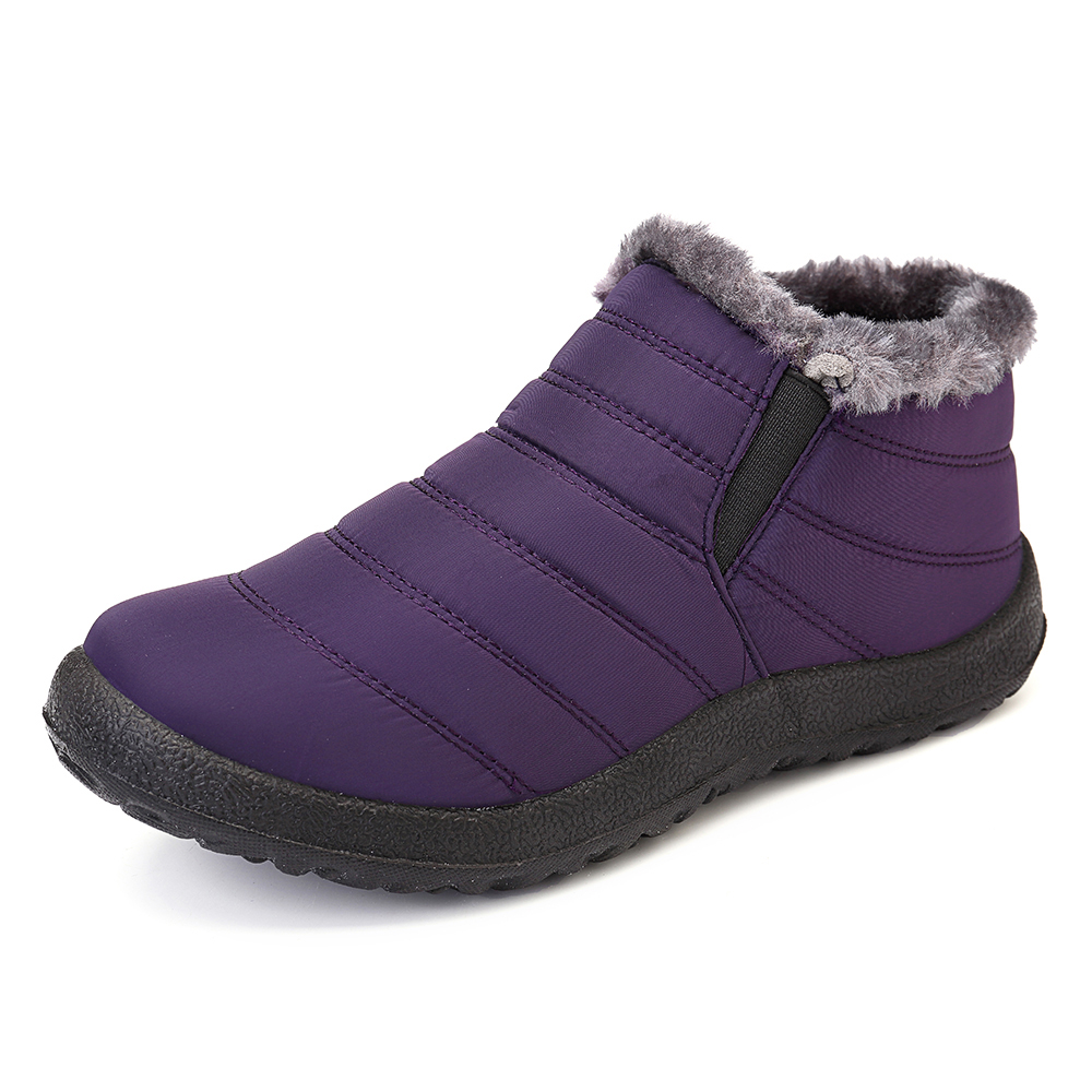 Купить со скидкой Women Snow Shoes Waterproof Keep Warm Comfy Ankle Boots