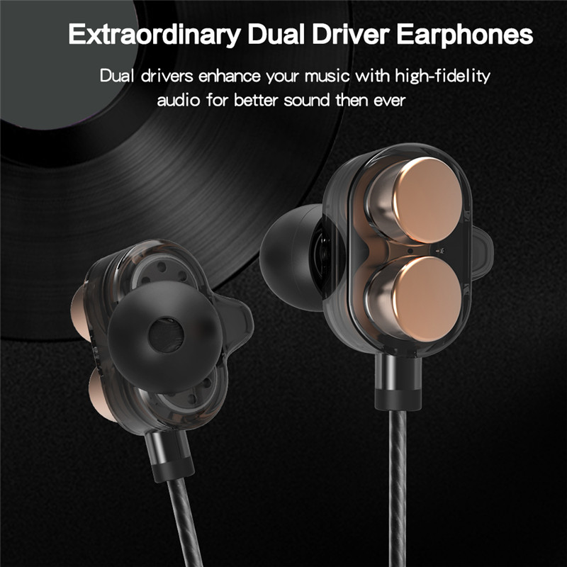 [Dual Dynamic Drivers] Bakeey™ X7 Heavy Bass Stereo 3.5mm Earphone Headset for iPhone Xiaomi Huawei