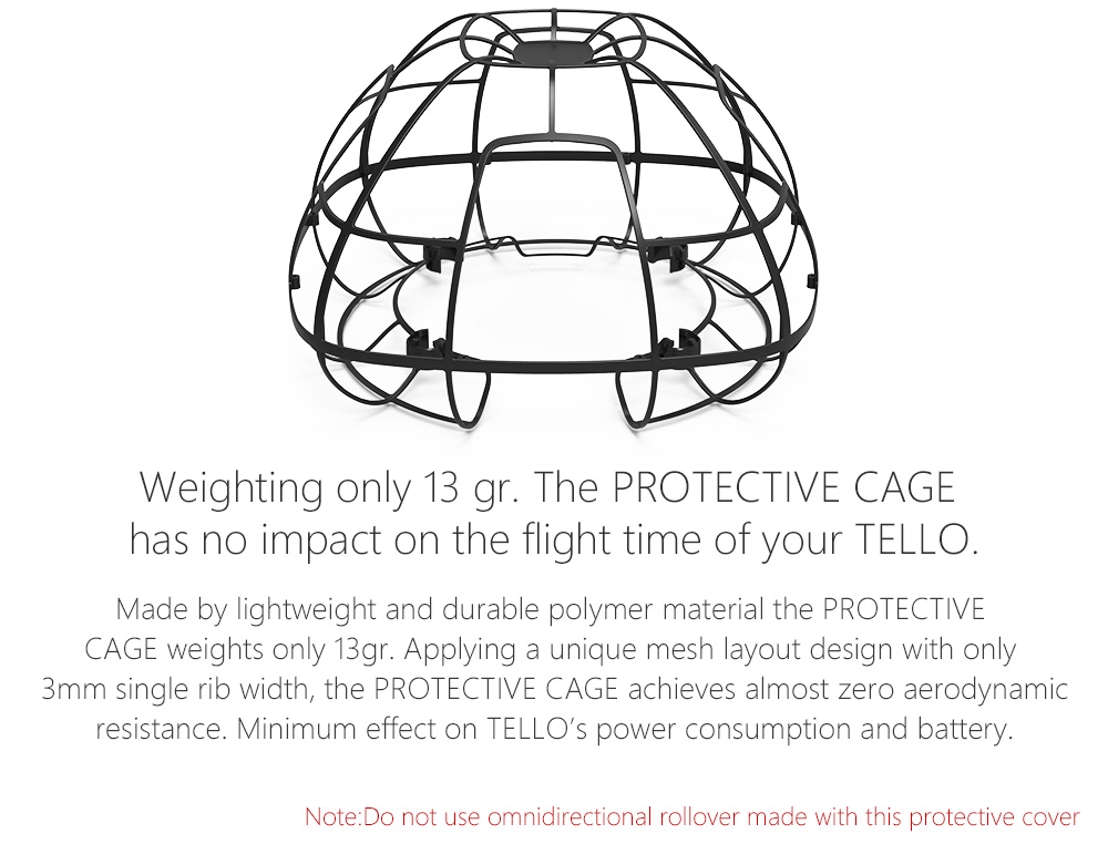PGYTECH Spherical Protective Cage Props Guard Full Coverage Protection Cover for DJI RYZE Tello